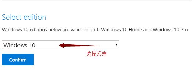 选择系统(Windows 10 )